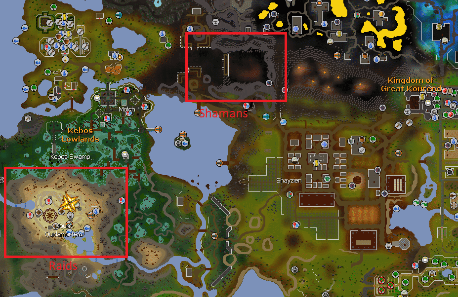Money Making Regions, Old School Runescape