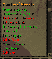 P2P Quests, Old School Runescape