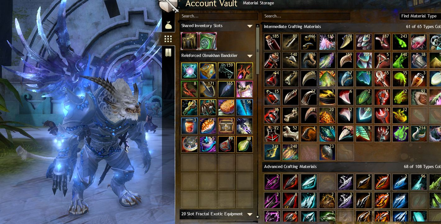 guild wars 2 tier 6 material farming blood totem fang compressed