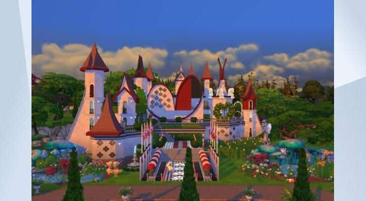Alice in Wonderland, Red Queen's Castle, Sims 4