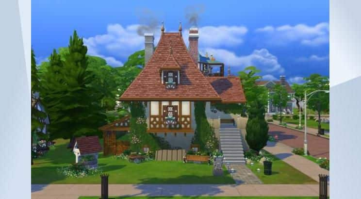 Beauty & The Beast, Belle & Moris' Cottage, Sims 4