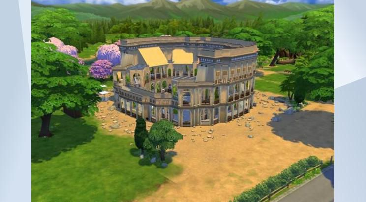 Colosseum, Italy, Sims 4