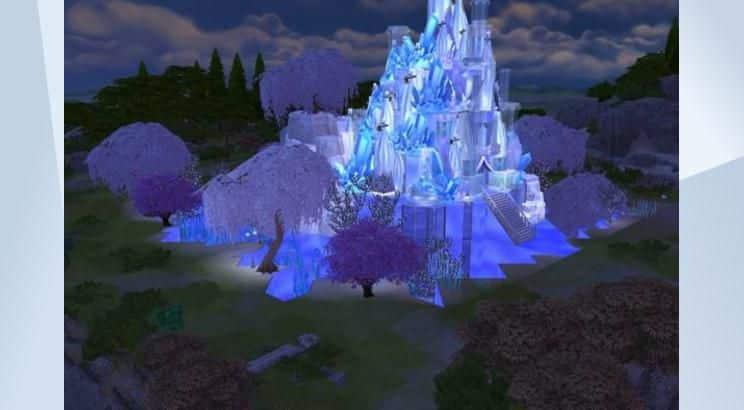 Frozen, Elsa's Frozen Castle, Sims 4