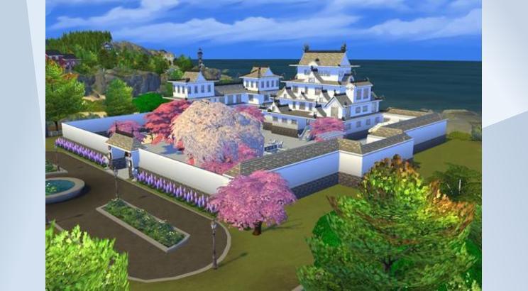Himeji Castle, Japan, Sims 4