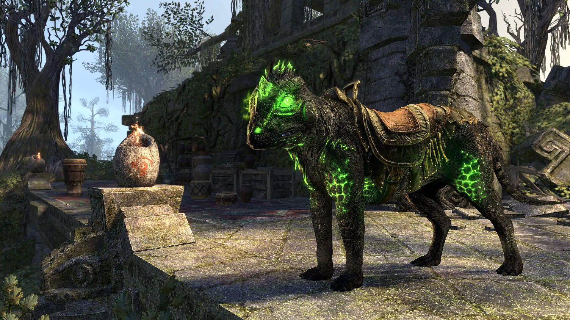 """Venomous Wolf-Lizard """"Nightlight"""" (Mount), Xanmeer Crown Crate, The Elder Scrolls Online"""
