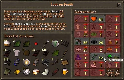 Old School Runescape - Deadman Mode Guide - How Does It Work