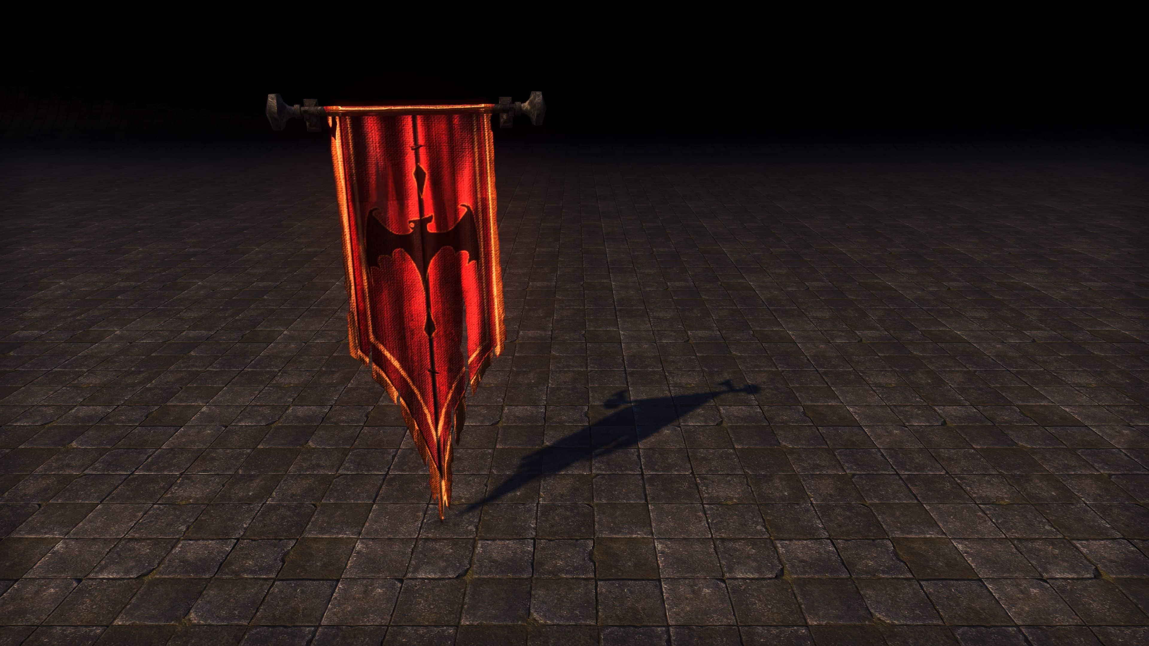 Banner of Namira (Furniture > Parlor > Banners), Psijic Vault Crate, The Elder Scrolls Online