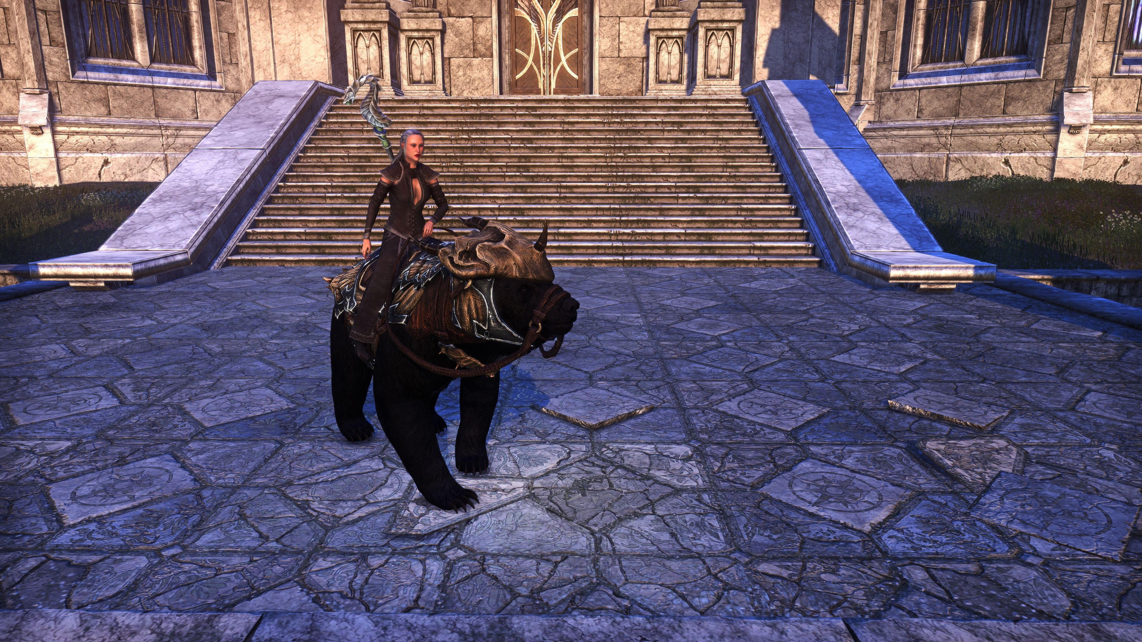 "Dragonscale Barded Bear ""Bruno"" (Mount), Psijic Vault Crate, The Elder Scrolls Online"