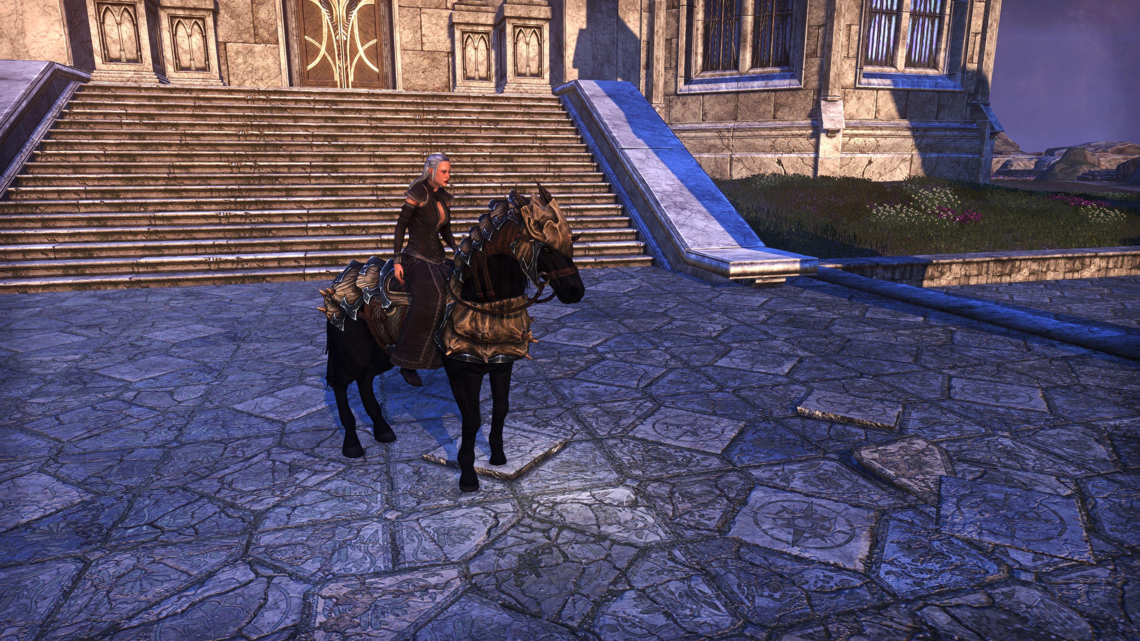 "Dragonscale Barded War-Horse ""Superbo"" (Mount), Psijic Vault Crate, The Elder Scrolls Online"