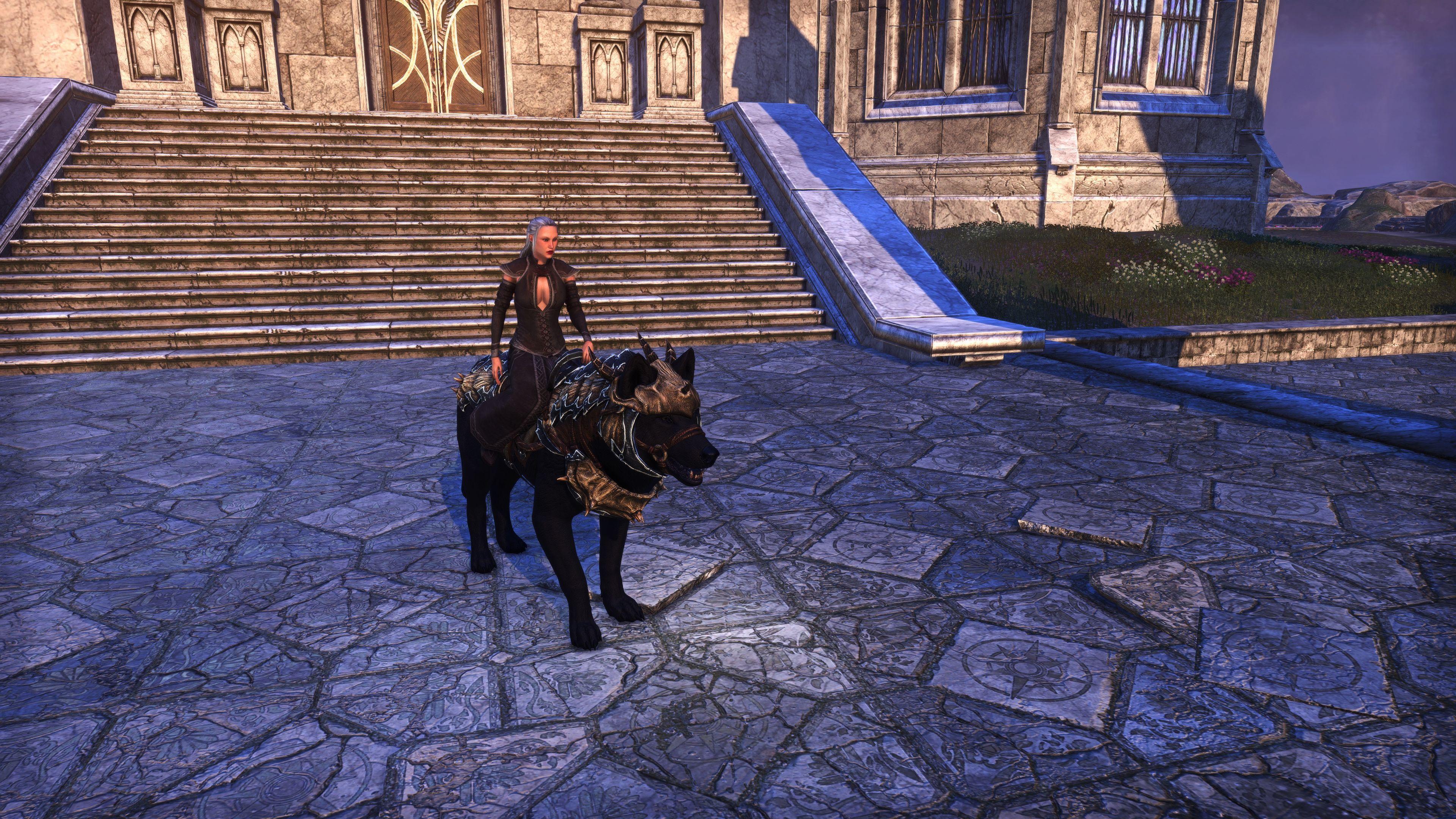 "Dragonscale Barded Wolf ""War-Wolf"" (Mount), Psijic Vault Crate, The Elder Scrolls Online"