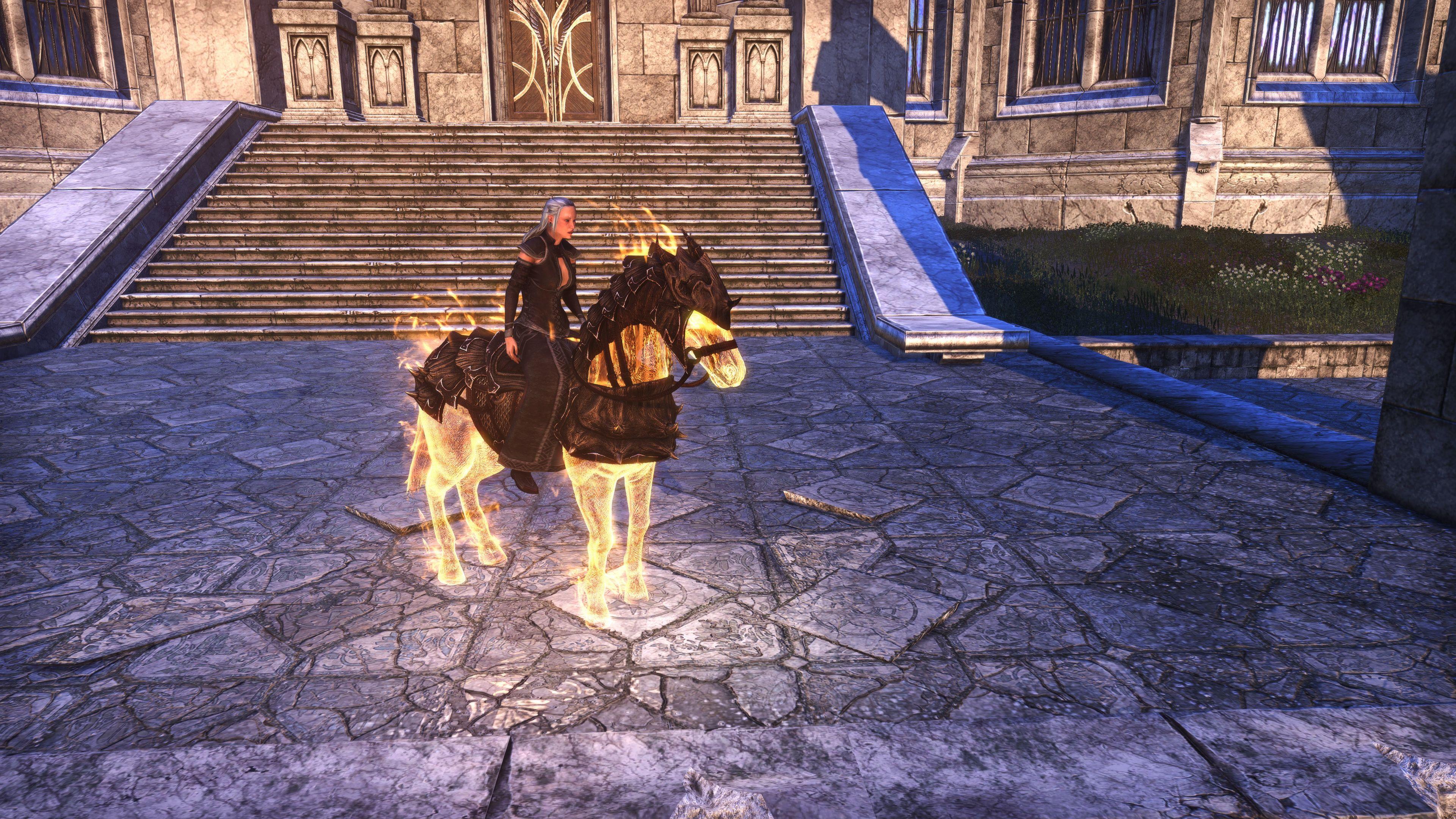 """Dragonscale Solar Horse """"Sunny"""" (Mount), Psijic Vault Crate, The Elder Scrolls Online"""