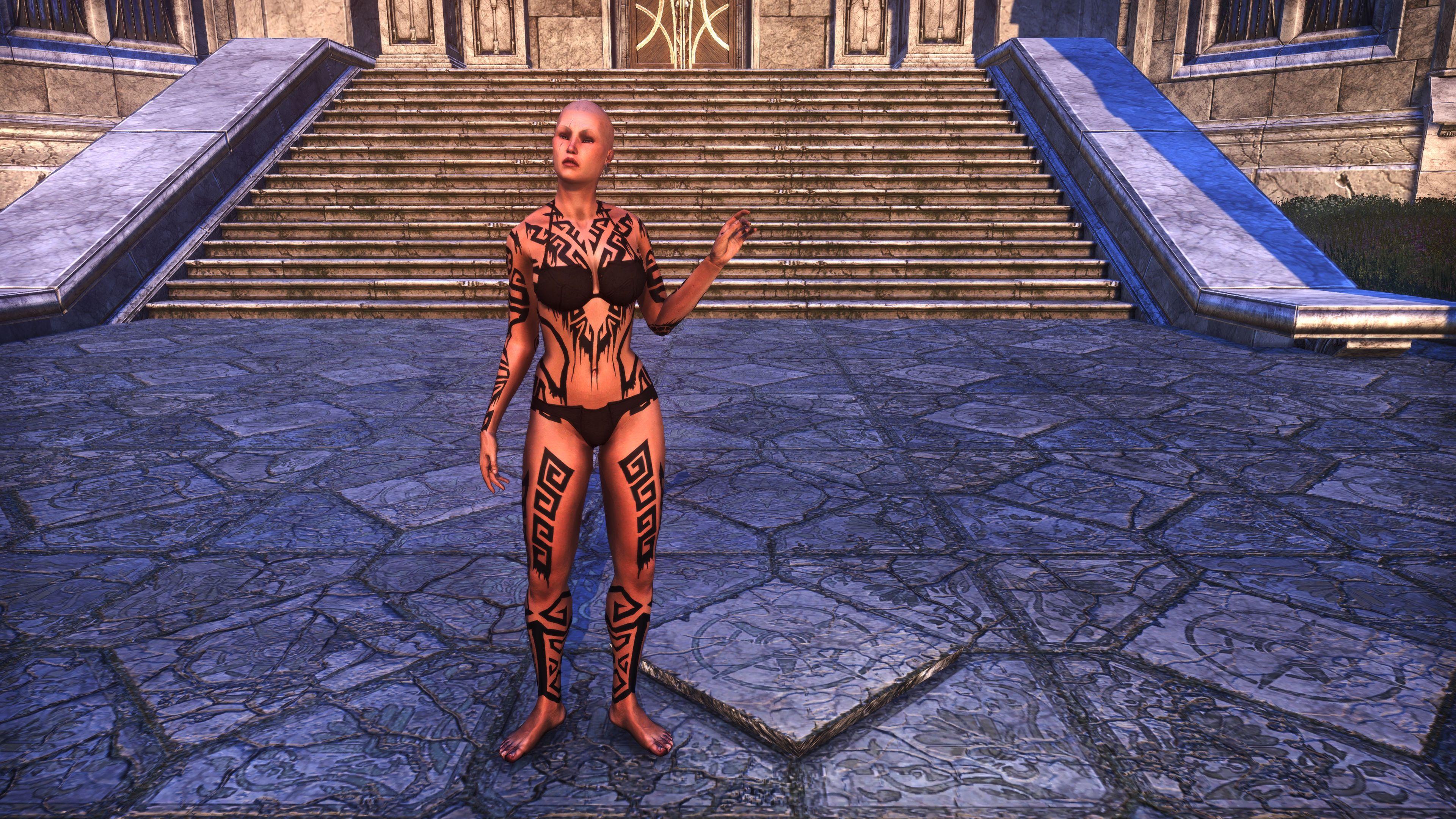 Dwarven Geometry Body Markings (Appearance > Body Markings), Psijic Vault Crate, The Elder Scrolls Online