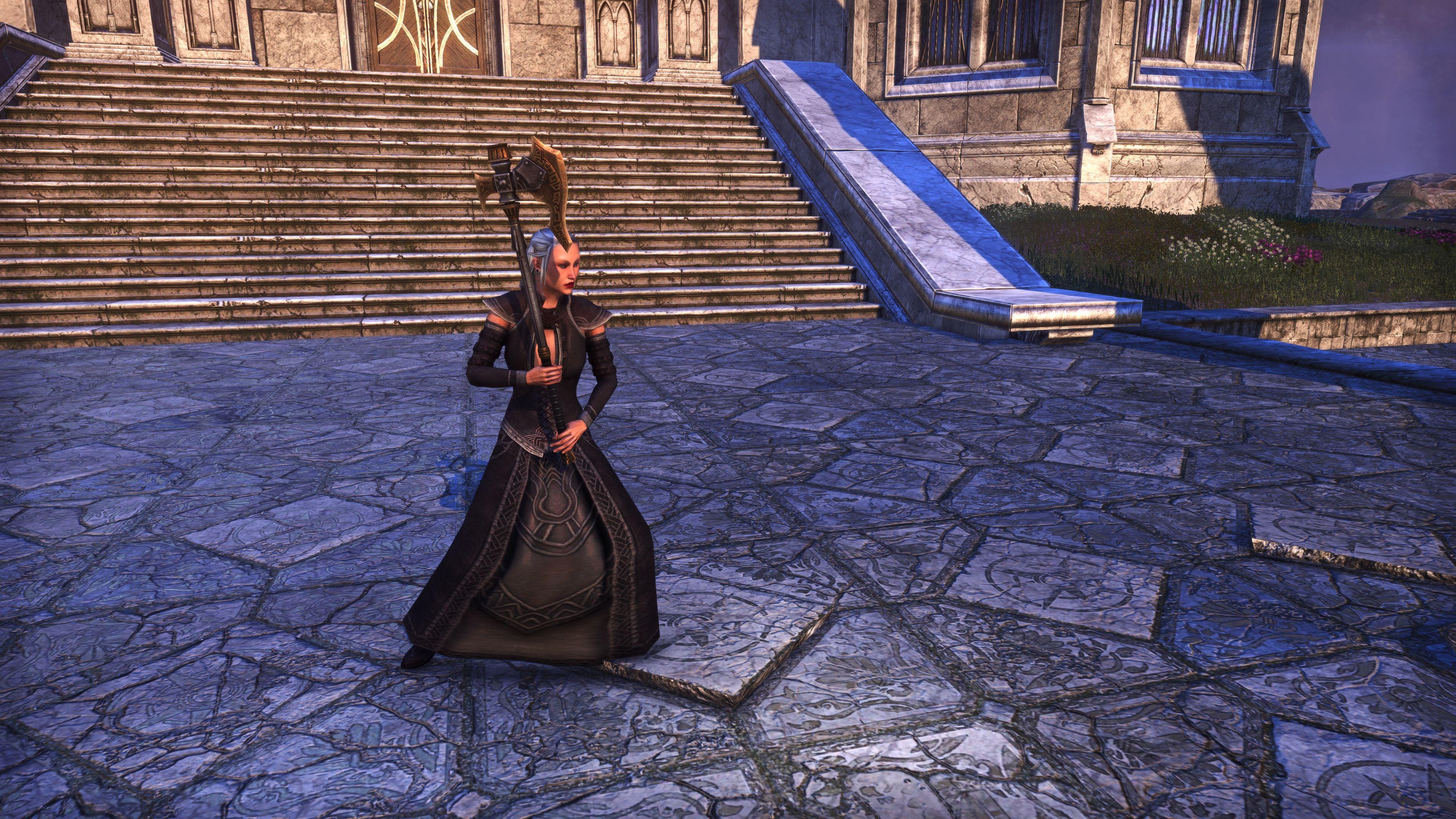 Dwarven Remnant Battle Axe (Weapon Styles > Two-Handed), Psijic Vault Crate, The Elder Scrolls Online