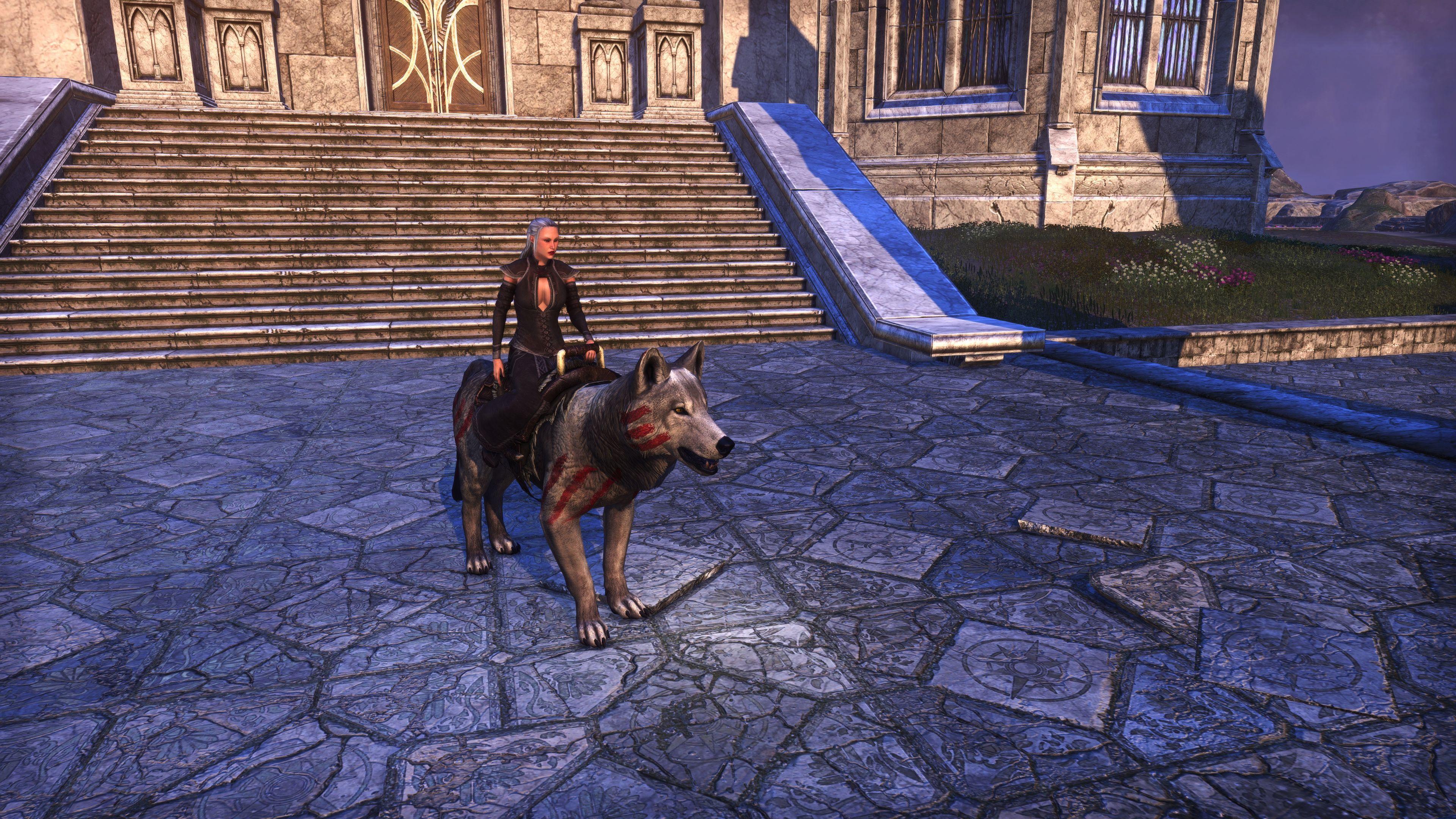 """Karthwolf Charger """"Ice Loper"""" (Mount), Psijic Vault Crate, The Elder Scrolls Online"""