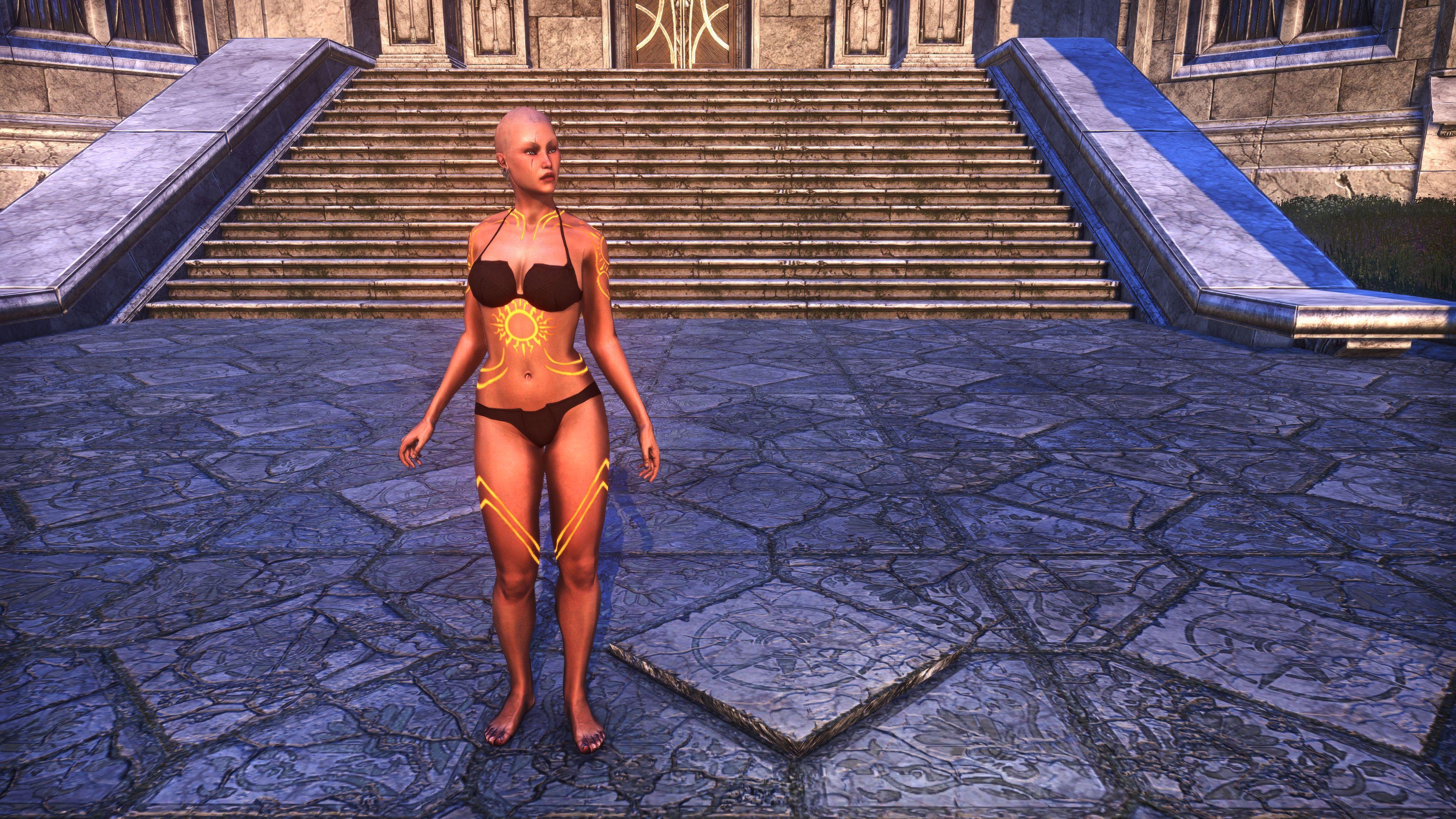Meridian Sunburst Body Tattoos (Appearance > Body Markings), Psijic Vault Crate, The Elder Scrolls Online
