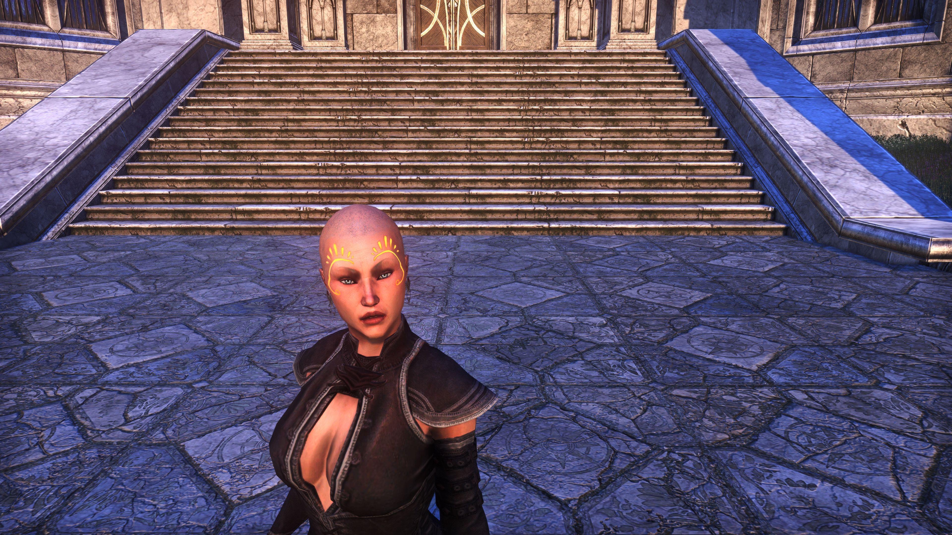 Meridian Sunburst Face Tattoos (Appearance > Face Markings), Psijic Vault Crate, The Elder Scrolls Online