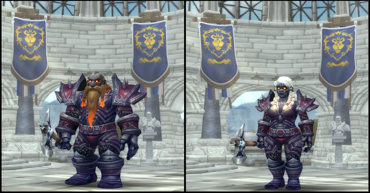 Male & Female Dark Iron Dwarf,World of Warcraft Race