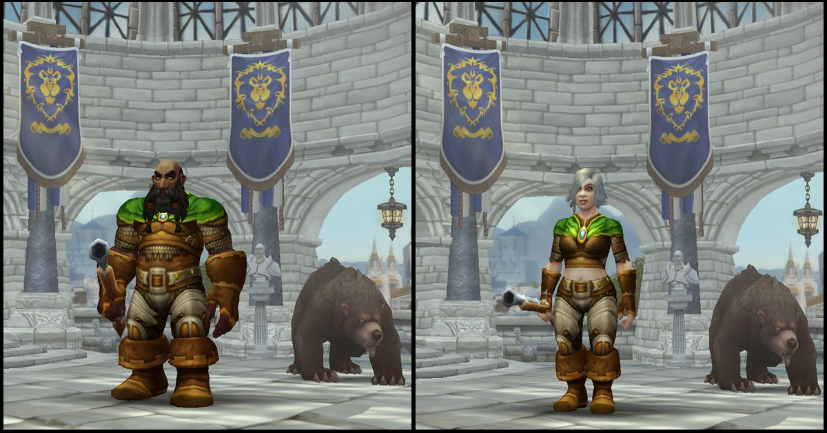 Male & Female Dwarf,World of Warcraft Race