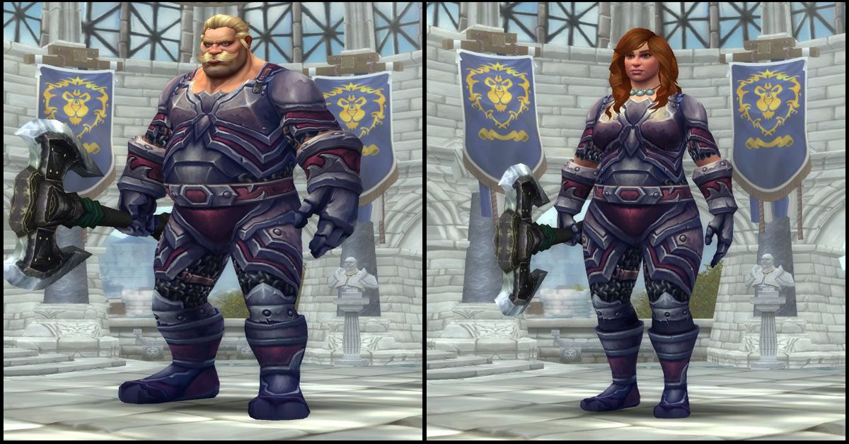 Male & Female Kul Tiran,World of Warcraft Race