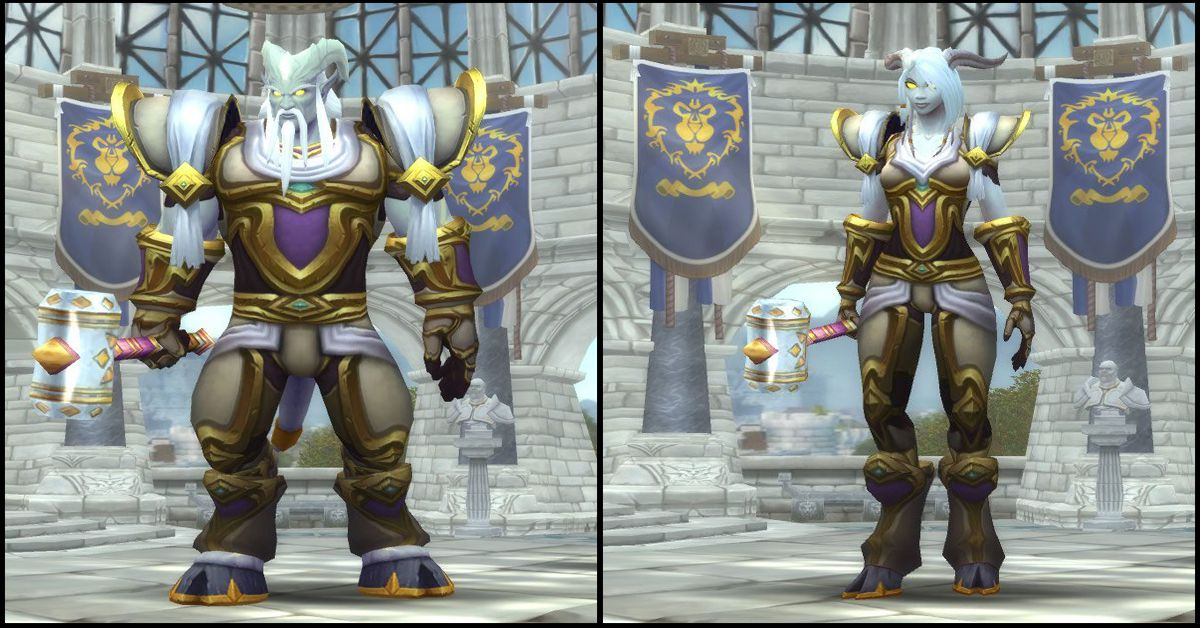 Male & Female Lightforged Draenei,World of Warcraft Race