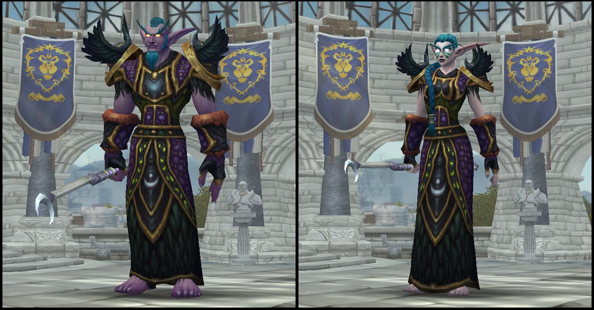 Male & Female Night Elf,World of Warcraft Race
