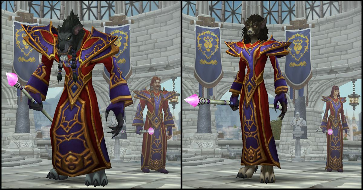 Male & Female Worgen,World of Warcraft Race