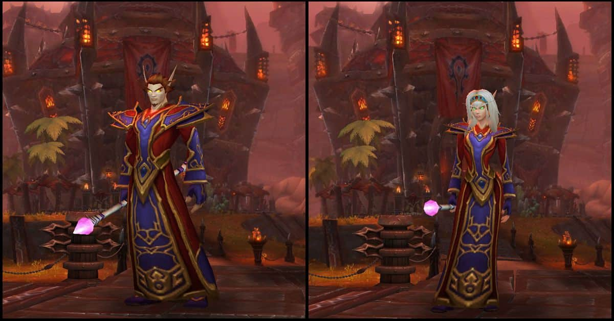 Male & Female Blood Elf,World of Warcraft Race
