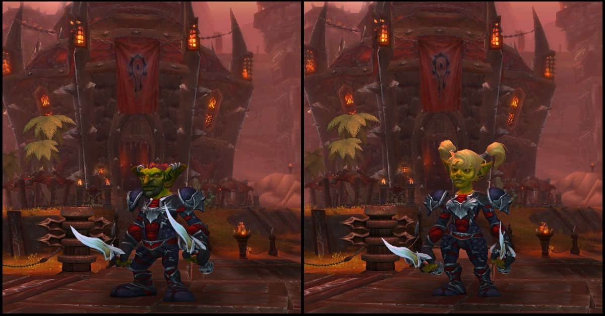 Male & Female Goblin,World of Warcraft Race