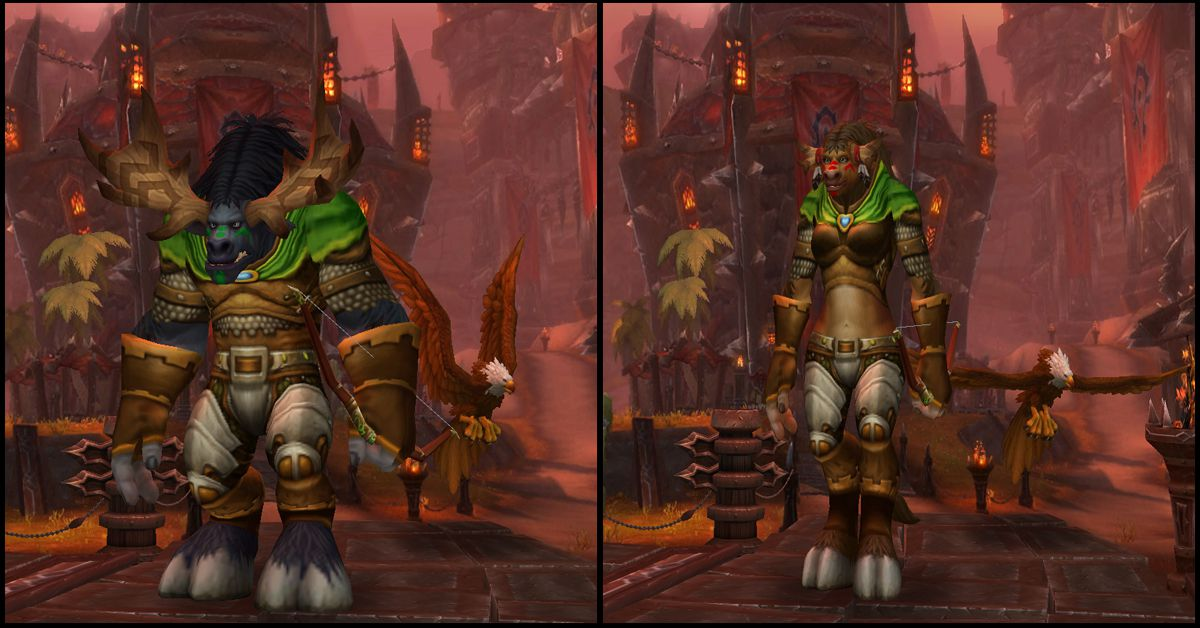 Male & Female Highmountain Tauren,World of Warcraft Race