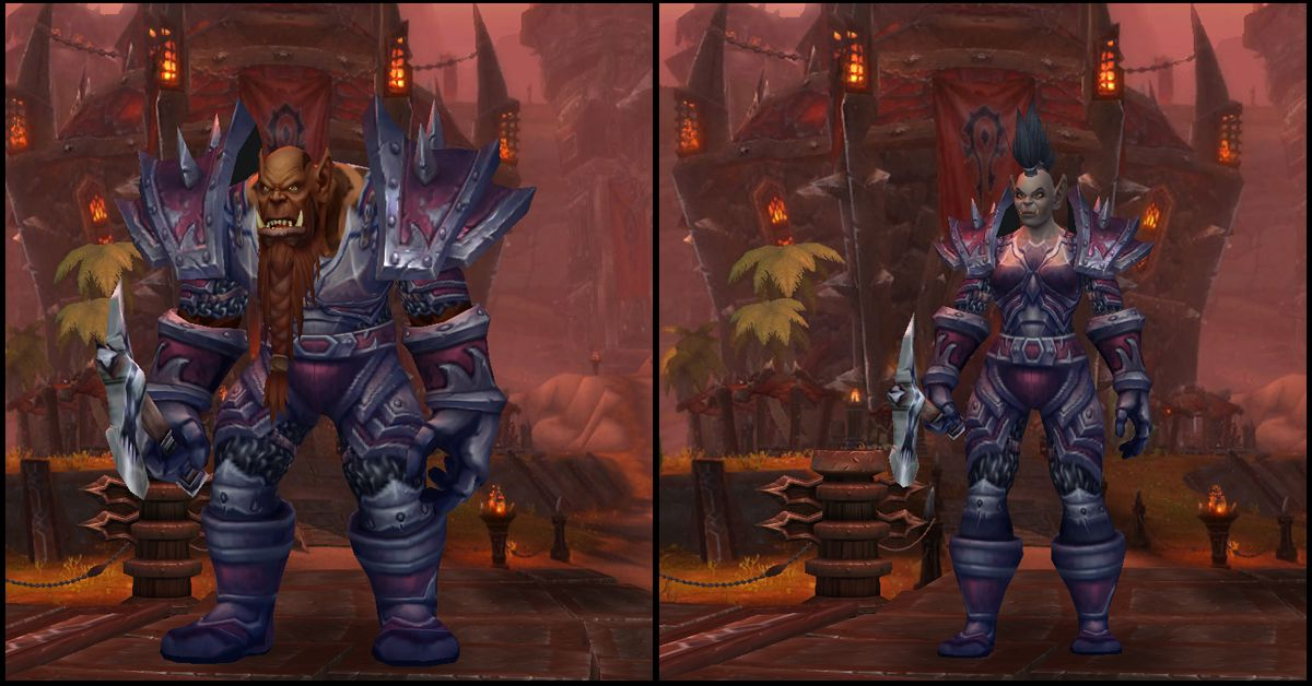 Male & Female Mag'har Orc,World of Warcraft Race