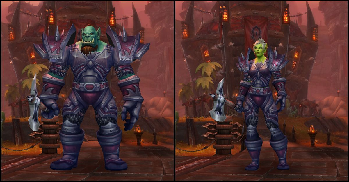 Male & Female Orc,World of Warcraft Race
