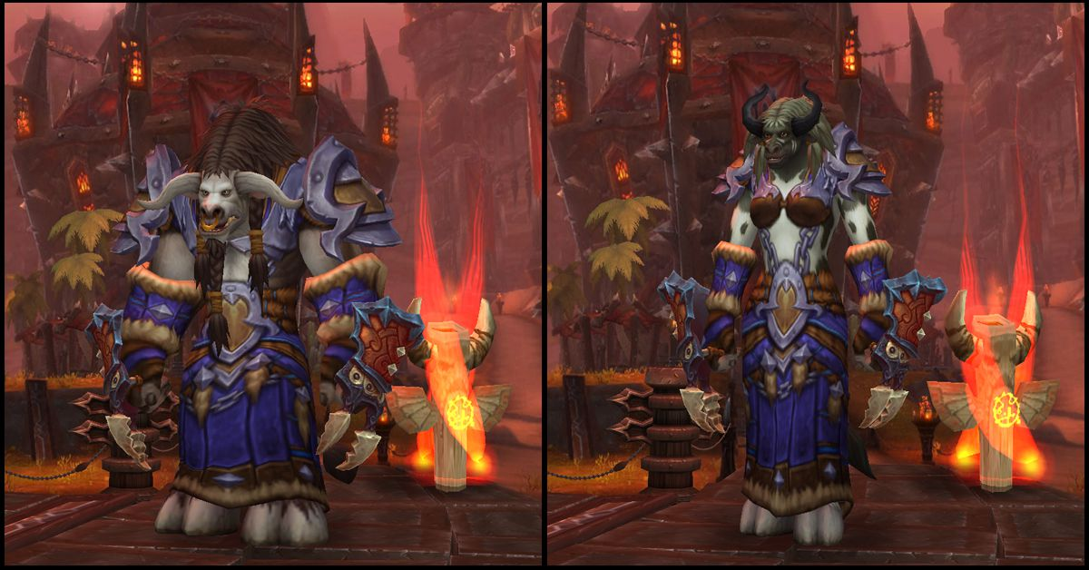 Male & Female Tauren,World of Warcraft Race
