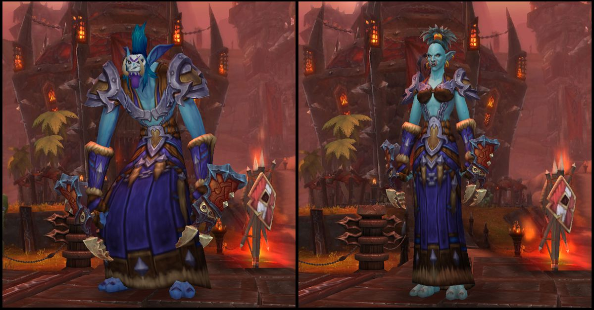 Male & Female Troll,World of Warcraft Race