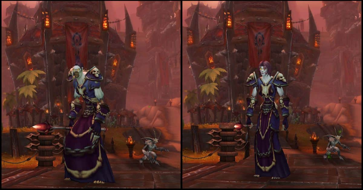 Male & Female Undead,World of Warcraft Race