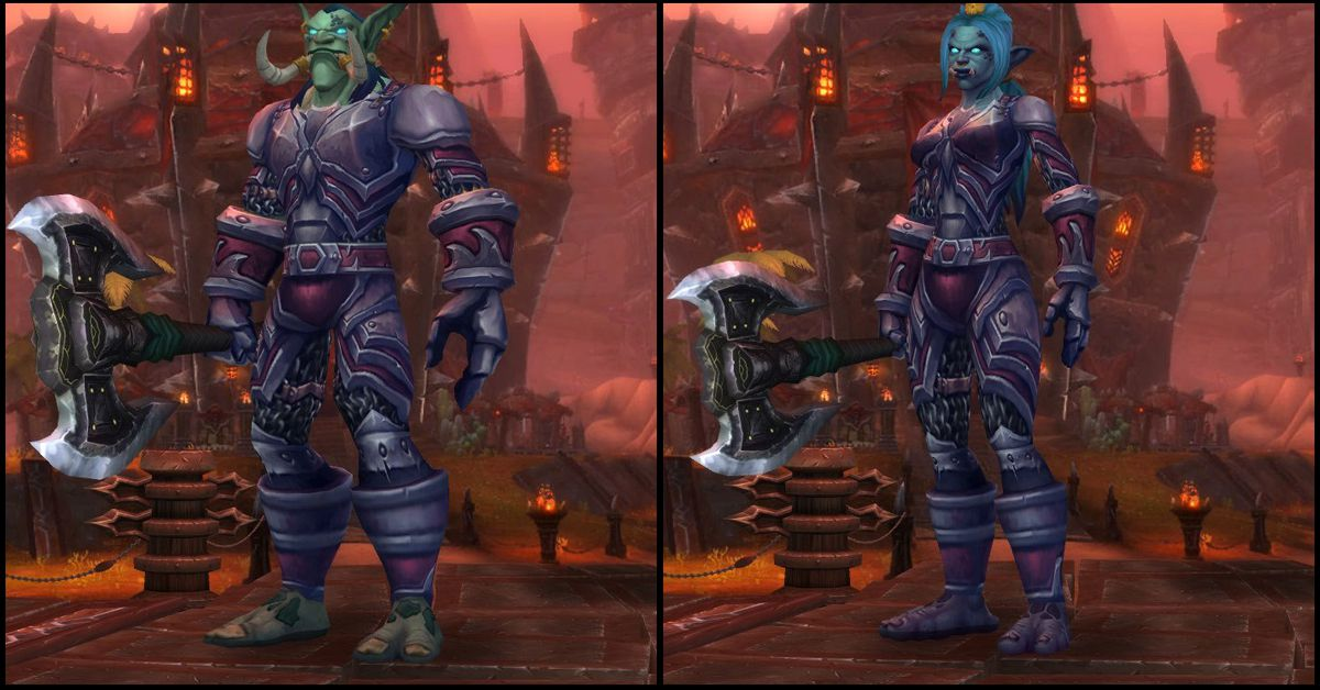 Male & Female Zandalari Troll,World of Warcraft Race