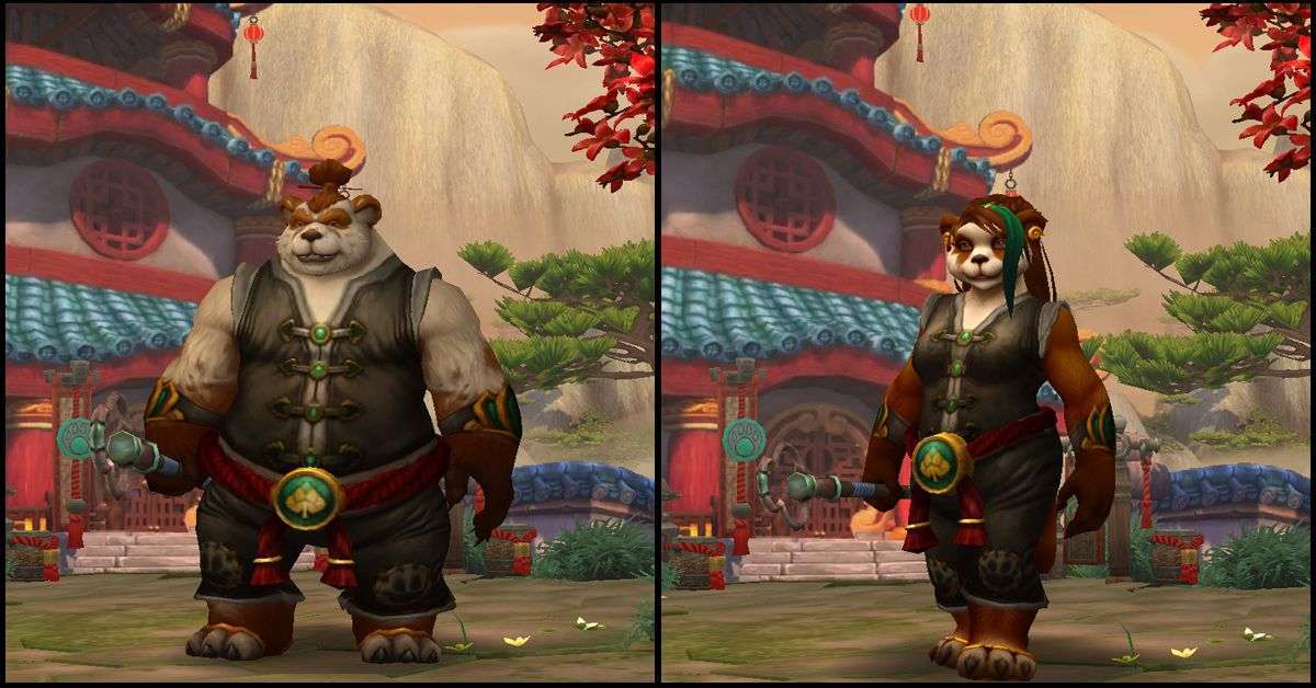 Male & Female Pandaren,World of Warcraft Race
