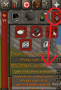 Disabling Attack Option, Old School Runescape