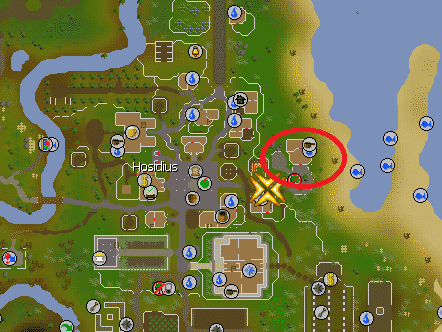Fruit Stall Location, Old School Runescape
