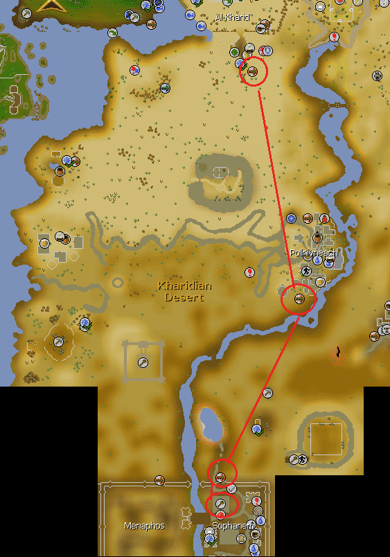 Pyramid Plunder Route, Old School Runescape