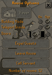 House Options, Old School Runescape