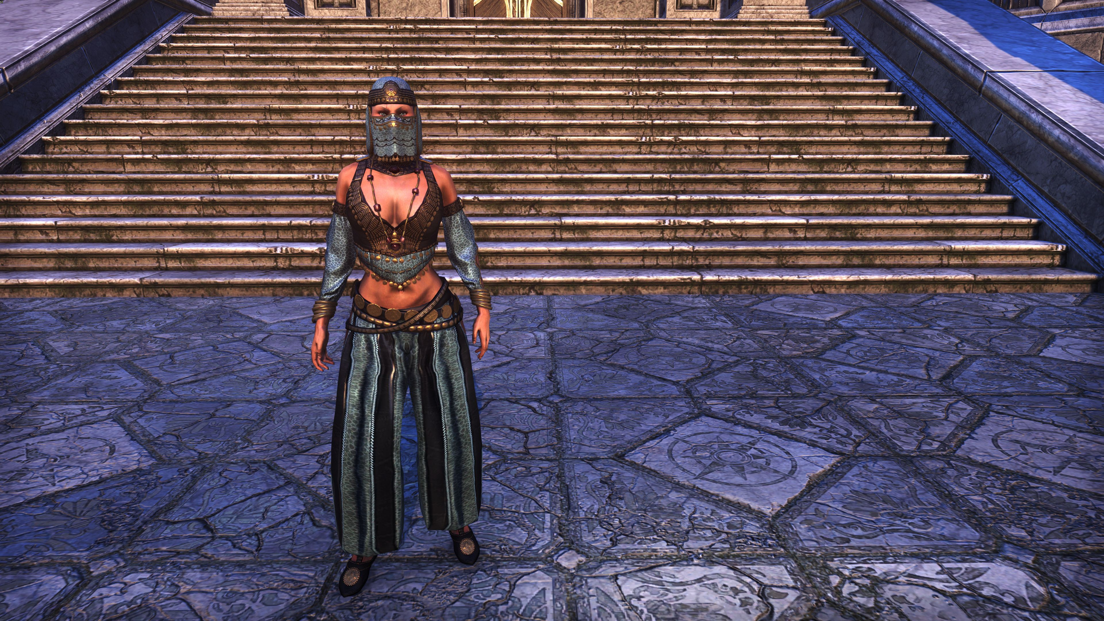 """Song of the Night"" Ensemble (Appearance > Costumes), Baandari Pedlar Crate, The Elder Scrolls Online"