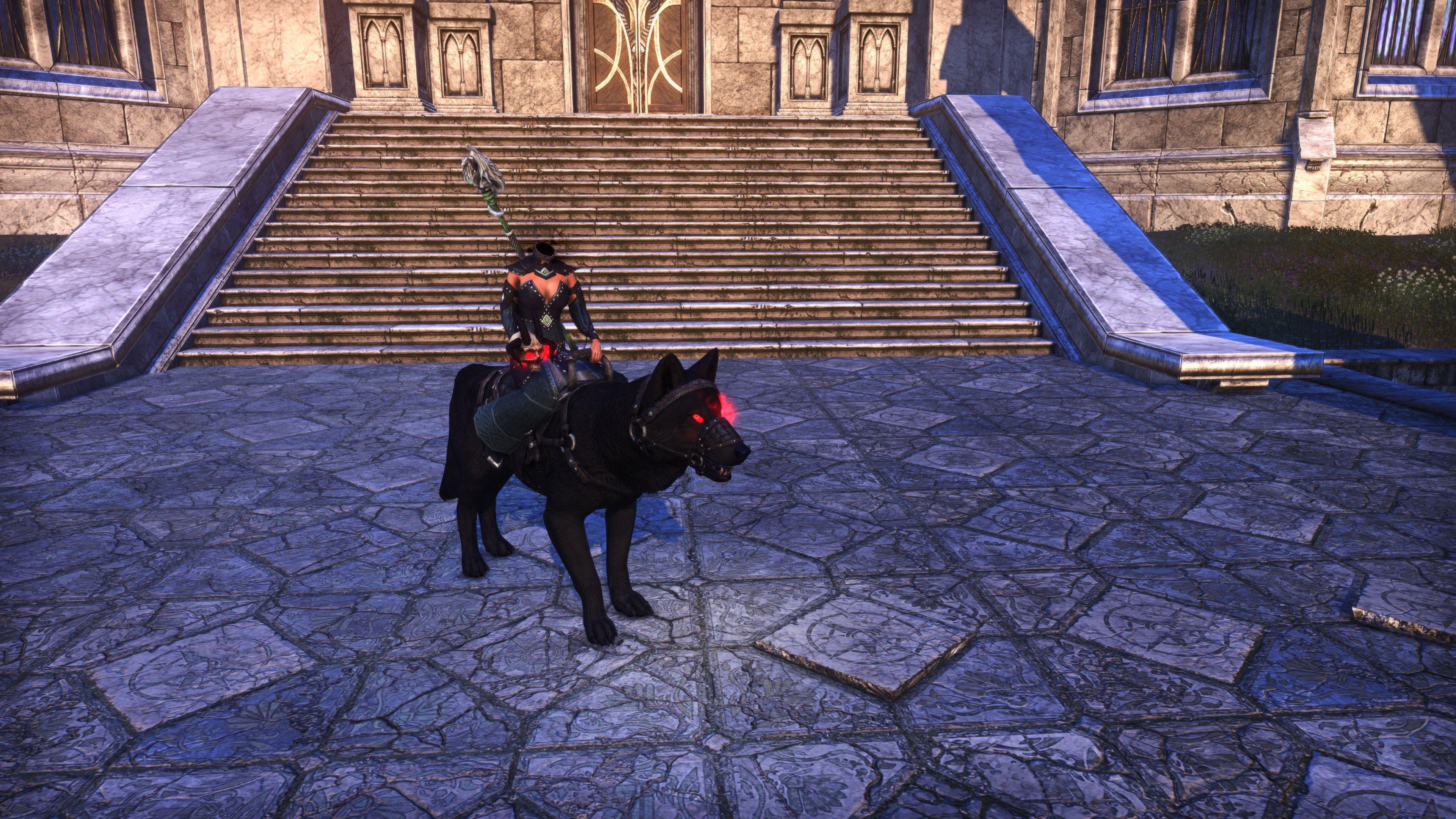 """Hollowjackk Daedra-Skull Wolf """"Dreadskull"""" (Mount), Hollowjack Crown Crate, The Elder Scrolls Online"""