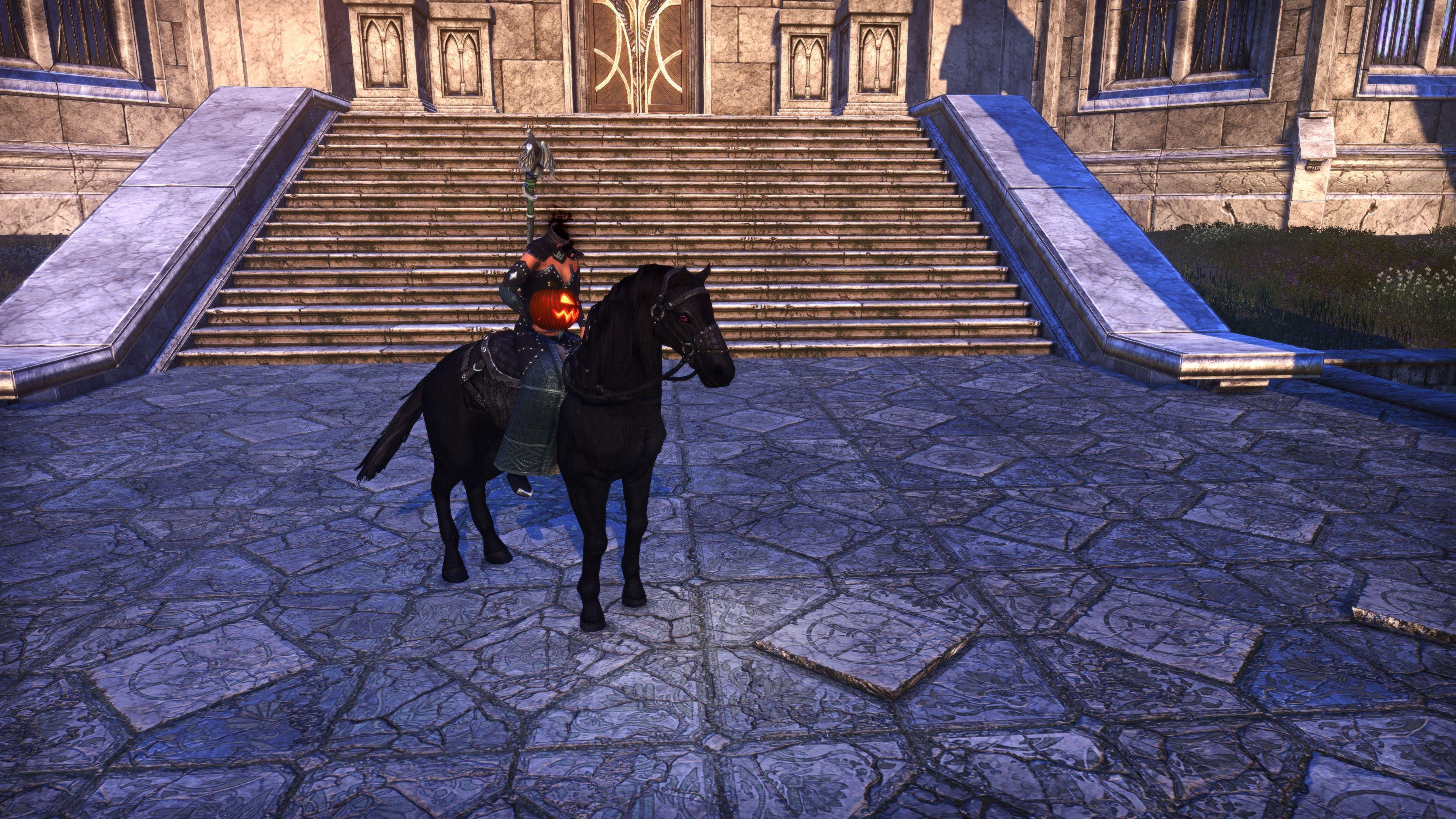 """Hollowjack Rider Horse """"Pumpkin Palfrey"""" (Mount), Hollowjack Crown Crate, The Elder Scrolls Online"""