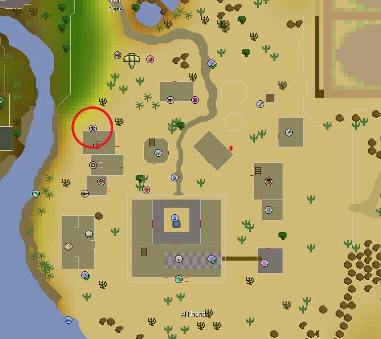 Al Kharid Agility Course Location, Old School Runescape