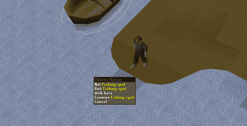 Bait Fishing Spot, Old School Runescape