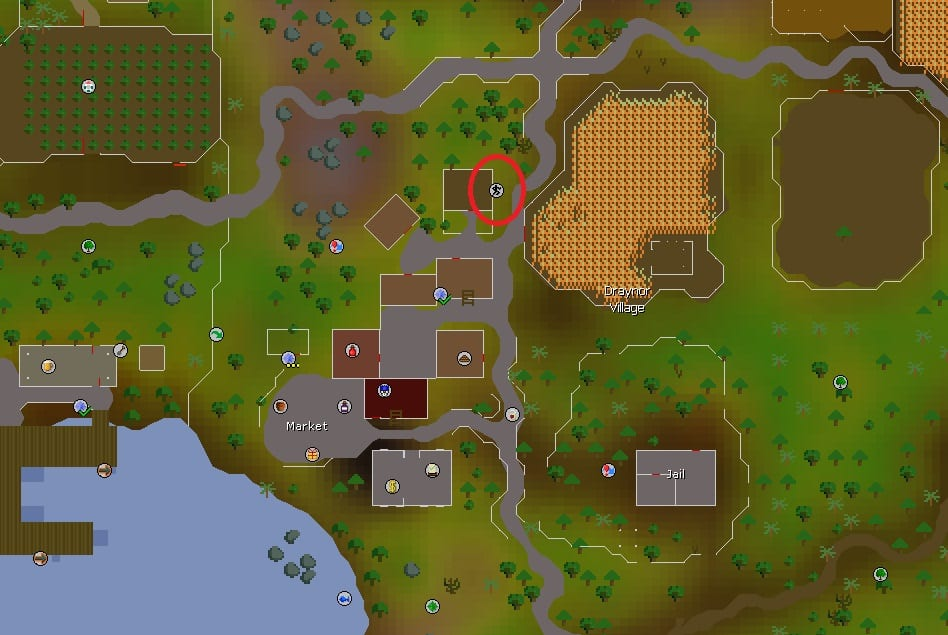 Draynor Village Agility Course Location, Old School Runescape