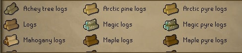 Various Logs, Old School Runescape
