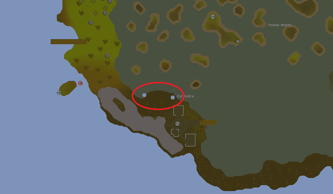 Sacred Eels Fishing Spots Location, Old School Runescape