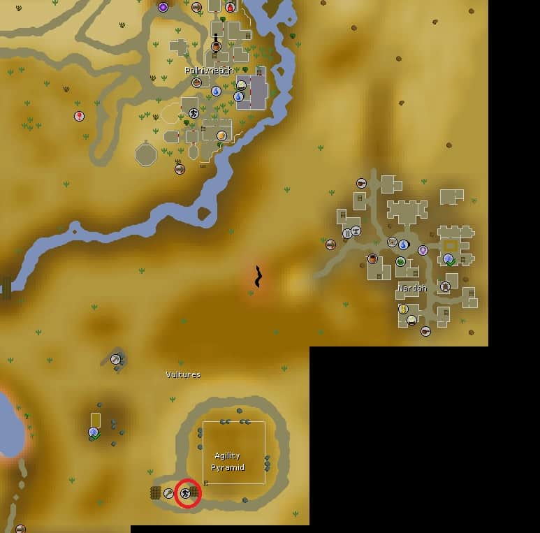 Agility Pyramid Course Location, Old School Runescape