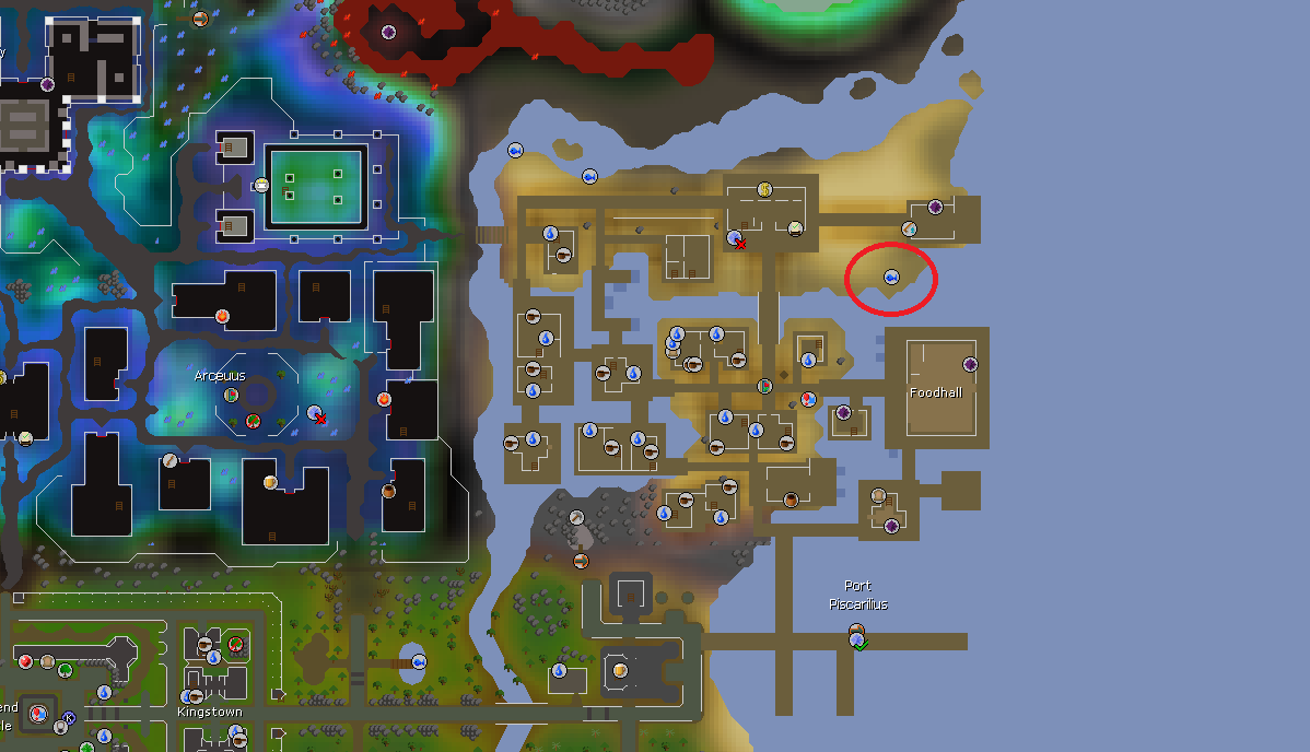 Anglerfish Fishing Spot Location, Old School Runescape